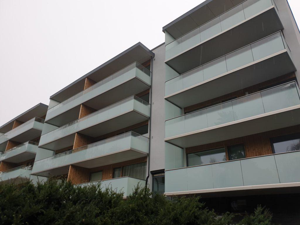 Ferdig balkong og fasade